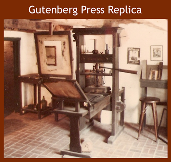Gutenberg Press Replica