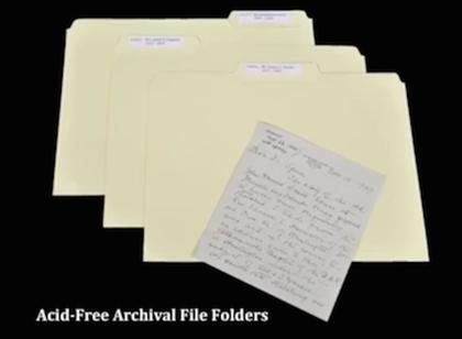 Acid Free Archival Folders