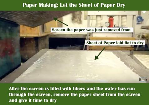 Paper Making Cheet Dry