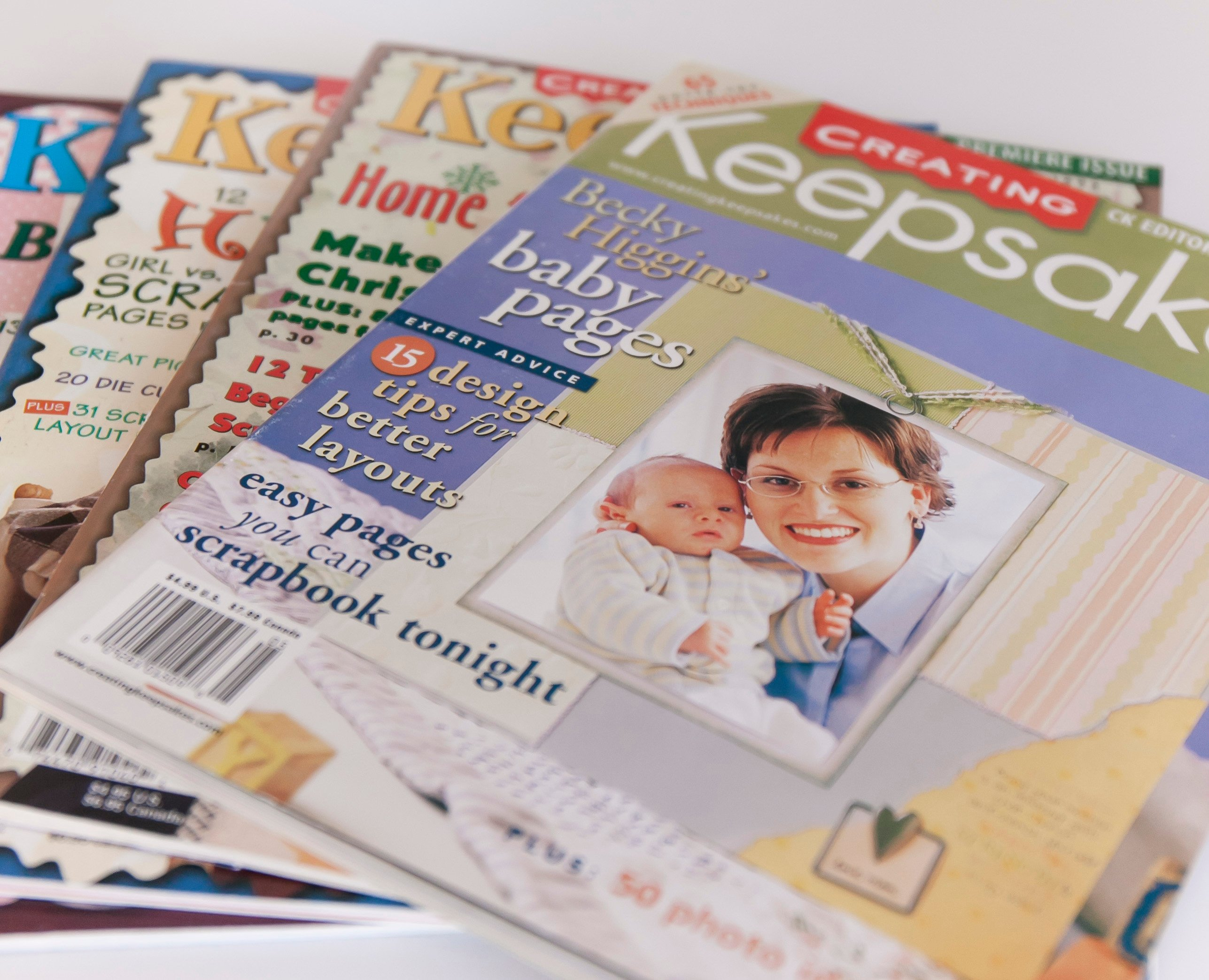 How to scrapbook magazine articles - Early Issues Of Creating Keepsakes Magazine Top Issue Features Becky Higgins