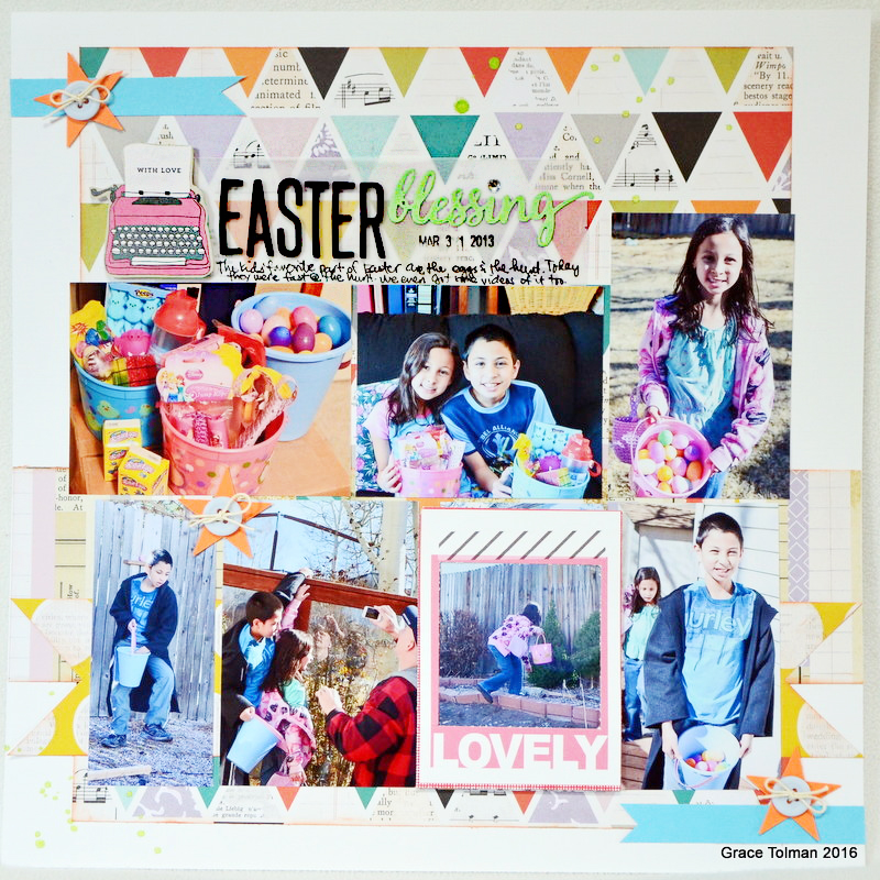 Colorful Easter Layout