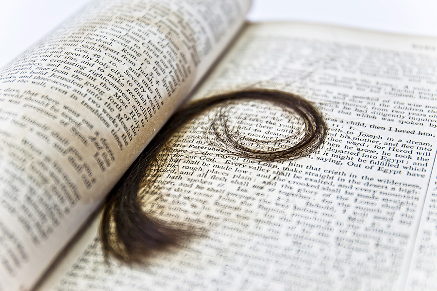 family bible lock of hair