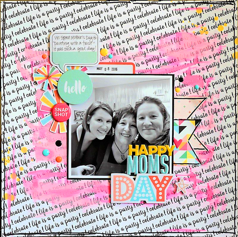 scrapbook layout inspiration mother s day