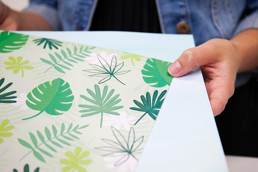 patterned paper palms