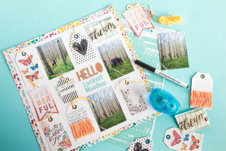 journaling tags layout