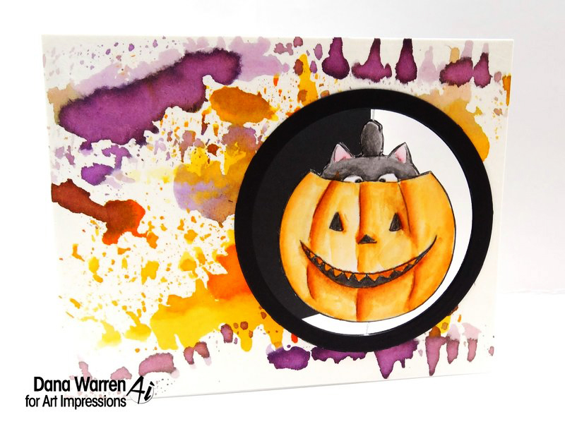 halloween card watercolor background