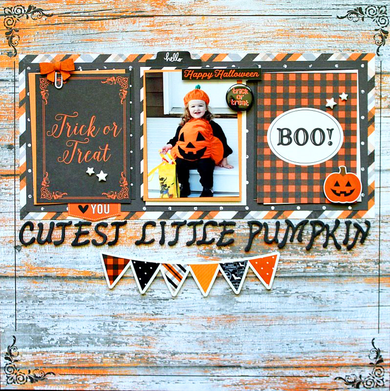 halloween layout pumpkins