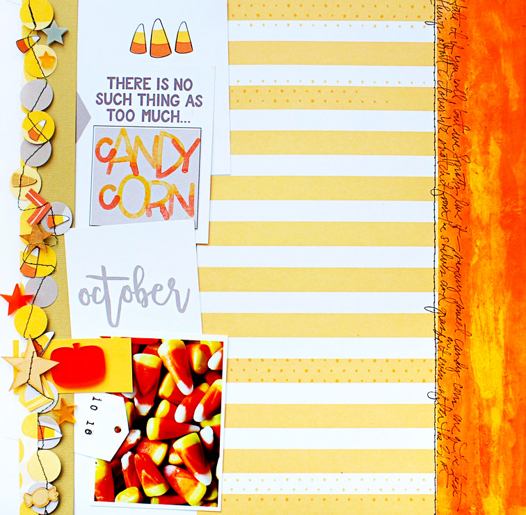 Halloween Layout Candy