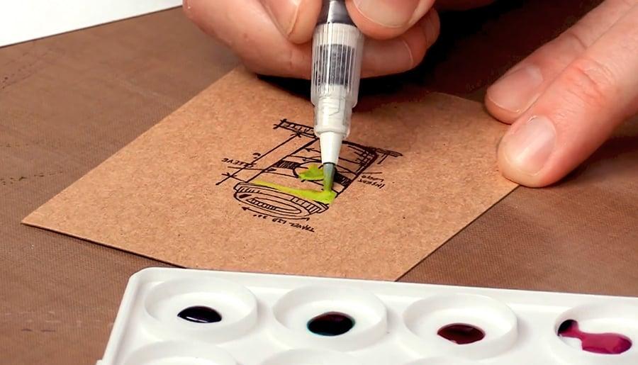 distress oxide watercoloring