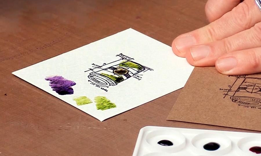 distress inks watercoloring