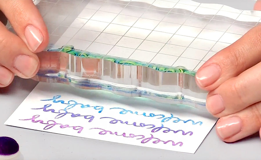 card stamped background