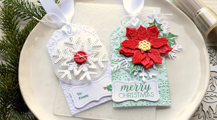 embossed gift tags