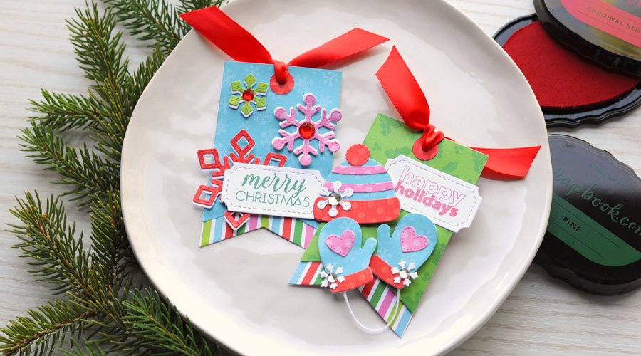 stamped gift tag
