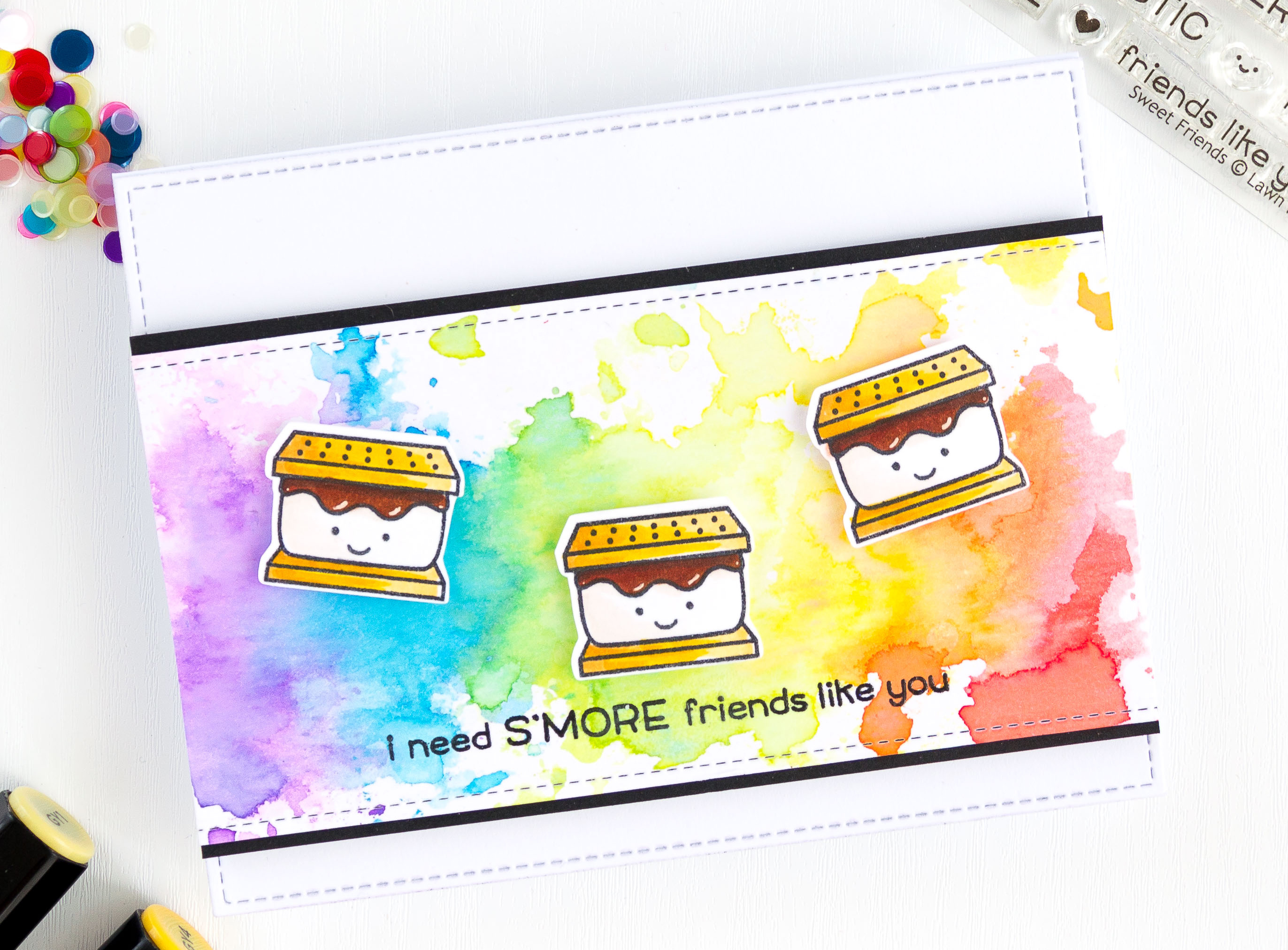 S'more Rainbow card