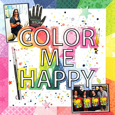 Color Me Happy Layout