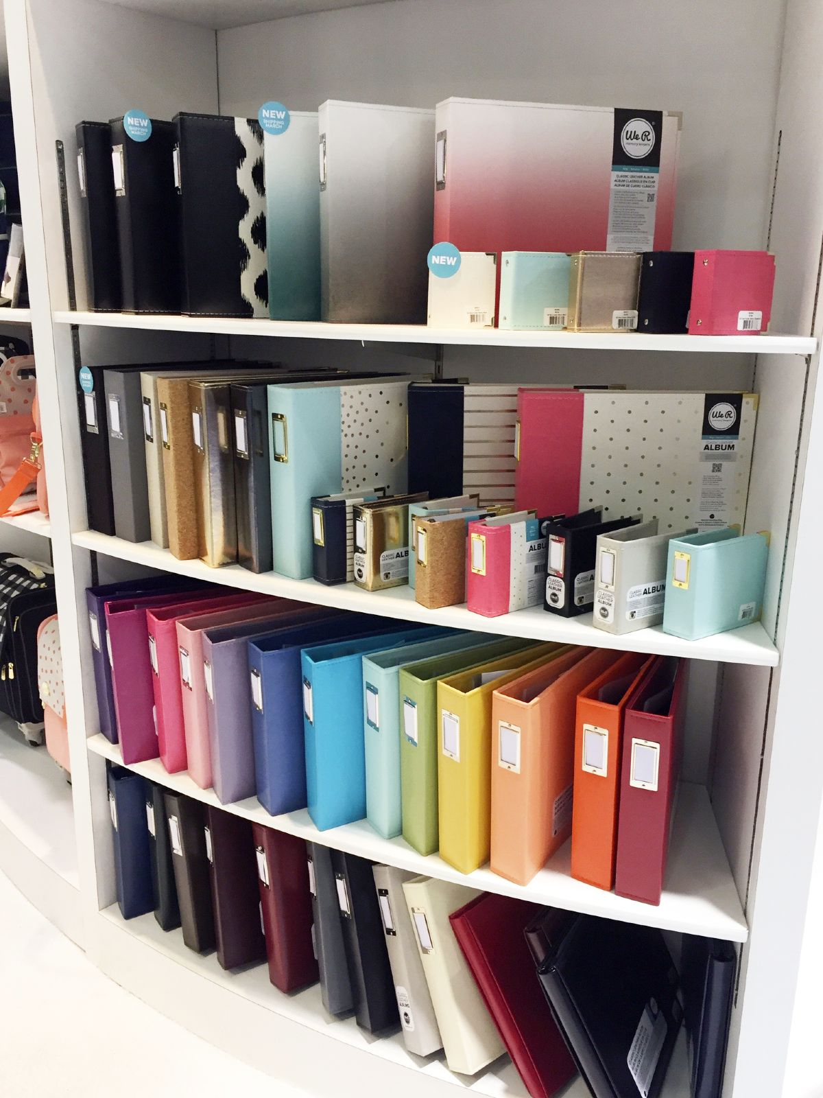 Scrapbook & Photo Albums On Shelf