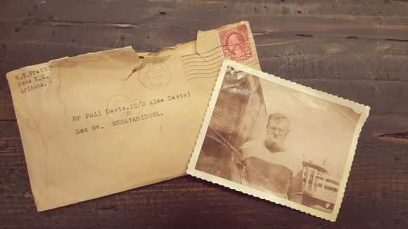 Vintage Envelope Water Damage and Picture
