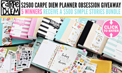 5 WINNERS WIN 500 Carpe Diem Planner Obsession Bundle
