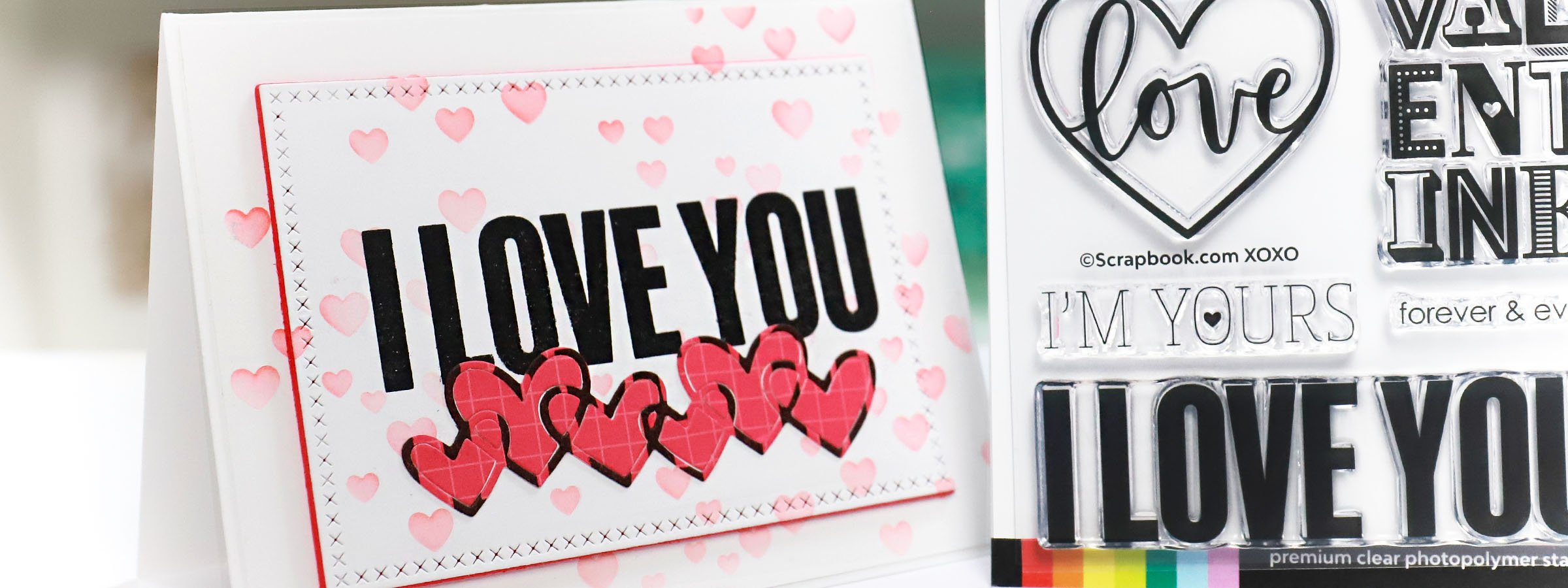 XOXO Envelope with Love Note Heart Card pack of 4
