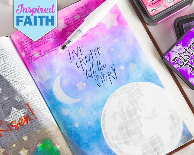 Bible Journaling Crafter/'s Workshop 2 Stencils My House /& Sing Unto God