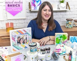 Mixed Media Tips and Techniques for Beginners with May Flaum
