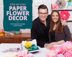 StepbyStep Paper Flower Decor with David Tutera and Jen Long