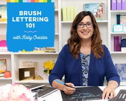 Brush Lettering 101 with Kelly Creates