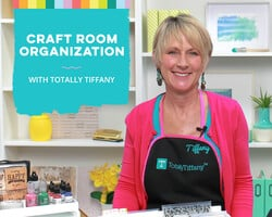 Craft Room Organization with Totally Tiffany