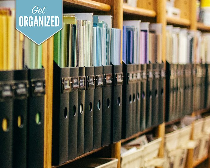 Organizing Scrapbook and Craft Supplies