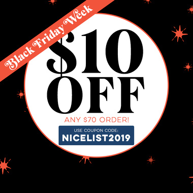 $10 OFF $70 with Coupon: NICELIST2019