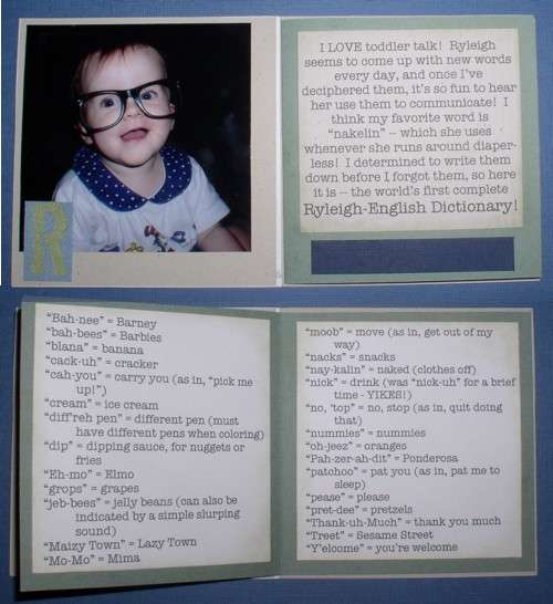 Toddler Talk, interior pages