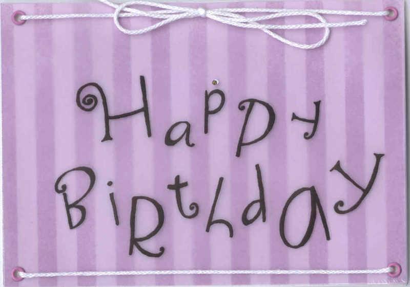 Birthday Day Card Vellum String