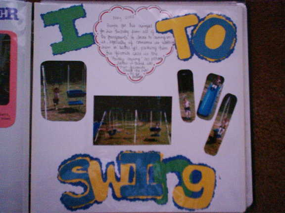 I love to swing