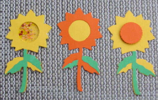 Sunflower Shaker & Paper Piecings