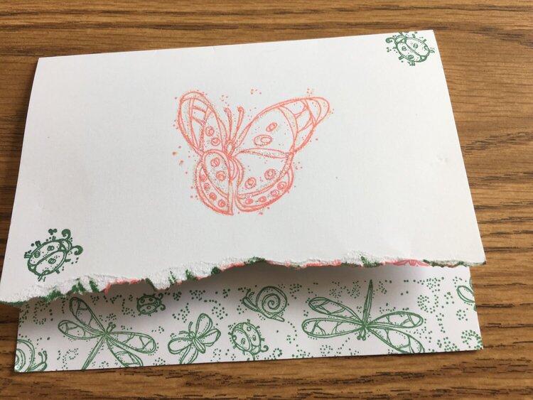 Garden Butterfly Card