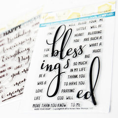Bless Your Heart Acrylic Stamps by Honey Bee Stamps