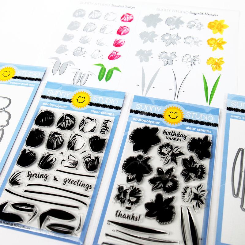 Sunny Studios Layering Stamps & Dies