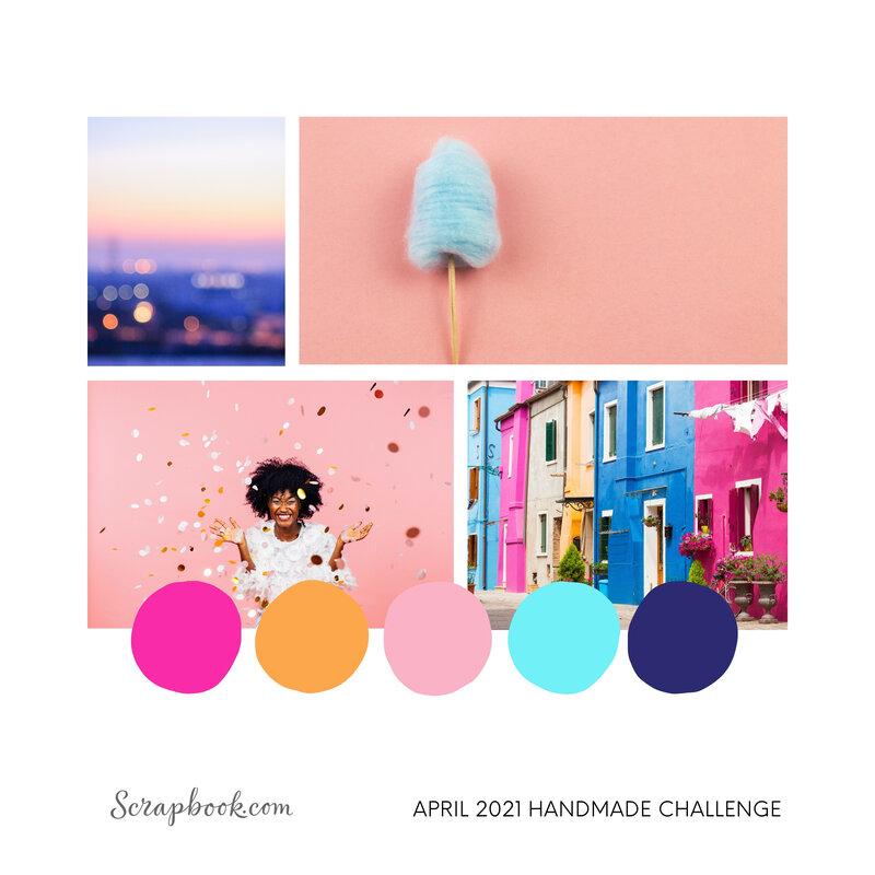 Scrapbook.com April 2021 Instagram Handmade Challenge