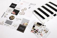 New Heidi Swapp Planner Kit - Black and White Stripes