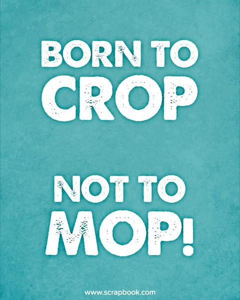 Quote - Born to Crop, Not to Mop!