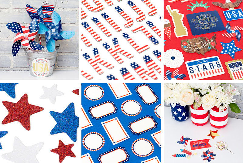 Project ideas from Pebbles new collection: America the Beautiful
