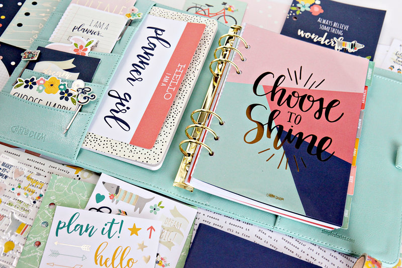 Choose to Shine with a Simple Stories Planner