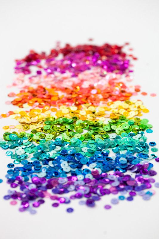 Rainbow sequins by Doodlebug!