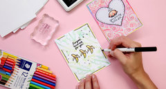 Valentine's Day Card with the Card and Envelope Sets!