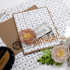 Birthday Card and Envelope - Card Inspiration