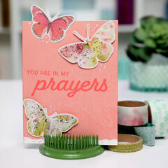 You are in my PRAYERS - simplistic card Inspiration