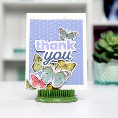 Thank you - w/ Butterflies - Card Inspiration