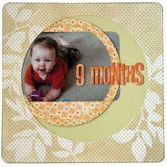 Heidi Swapp Calendar Album by Janet Hopkins - Layout