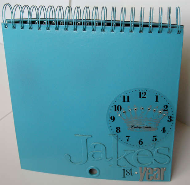 Heidi Swapp Calendar Album by Janet Hopkins (painted front)