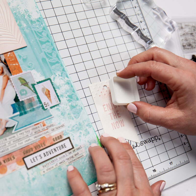 From the Exclusive Scrapbook.com Mini Class with Heidi Swapp, Taking Your Embellishments to the Next Level